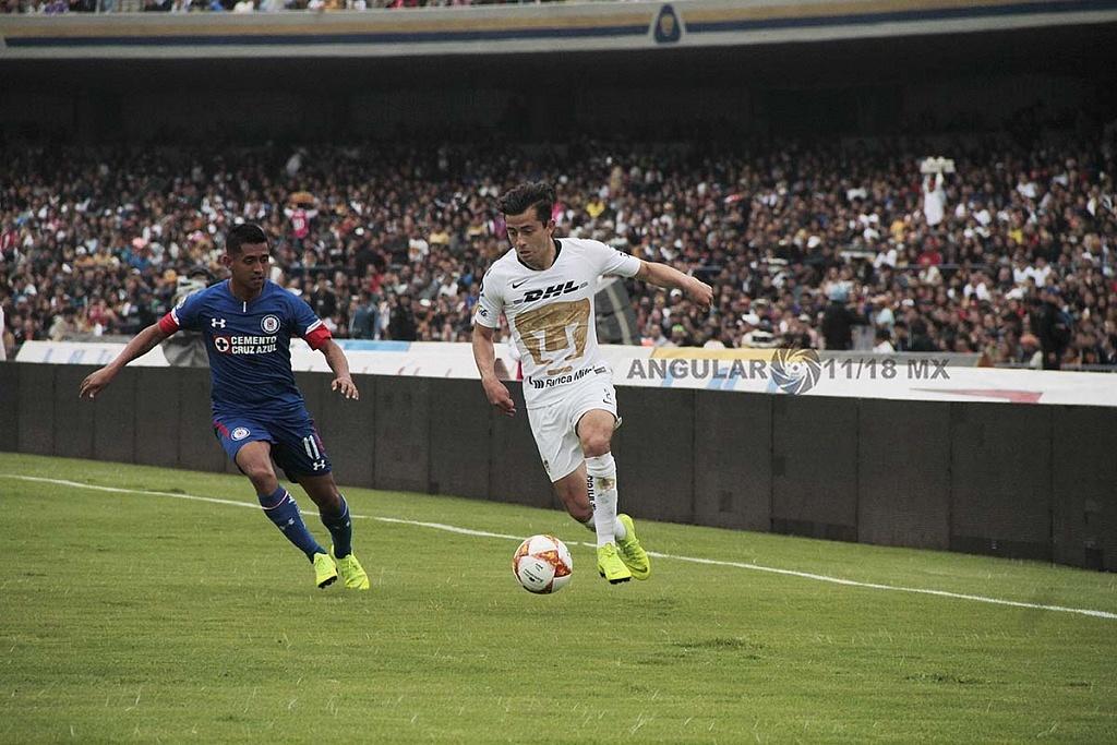Pumas cae en casa frente a Cruz Azul 1-2 en la jornada 15 del apertura 2018,