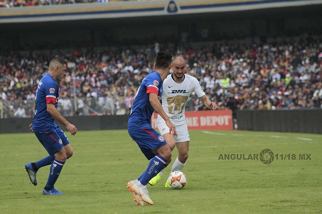 Pumas cae en casa frente a Cruz Azul, 1-2 en la jornada 15 del apertura, 2018