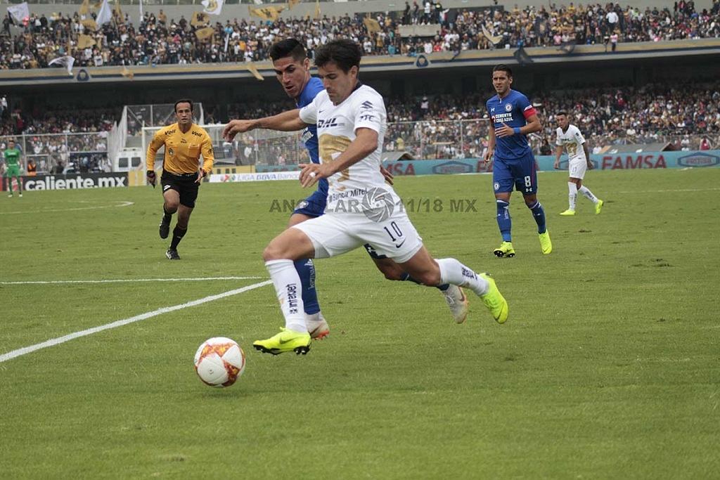 Pumas cae en casa frente a Cruz Azul 1-2 en la jornada 15, del apertura 2018,