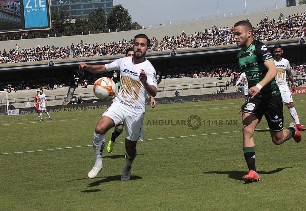 Pumas empata 1-1 con Santos Laguna en la jornada 17, del torneo apertura de la liga Mx 2018,
