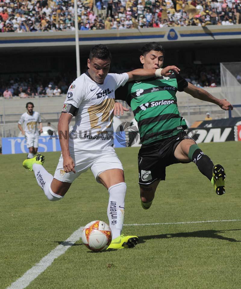 Pumas empata 1-1 con Santos, Laguna en la jornada 17, del torneo apertura de la liga Mx 2018