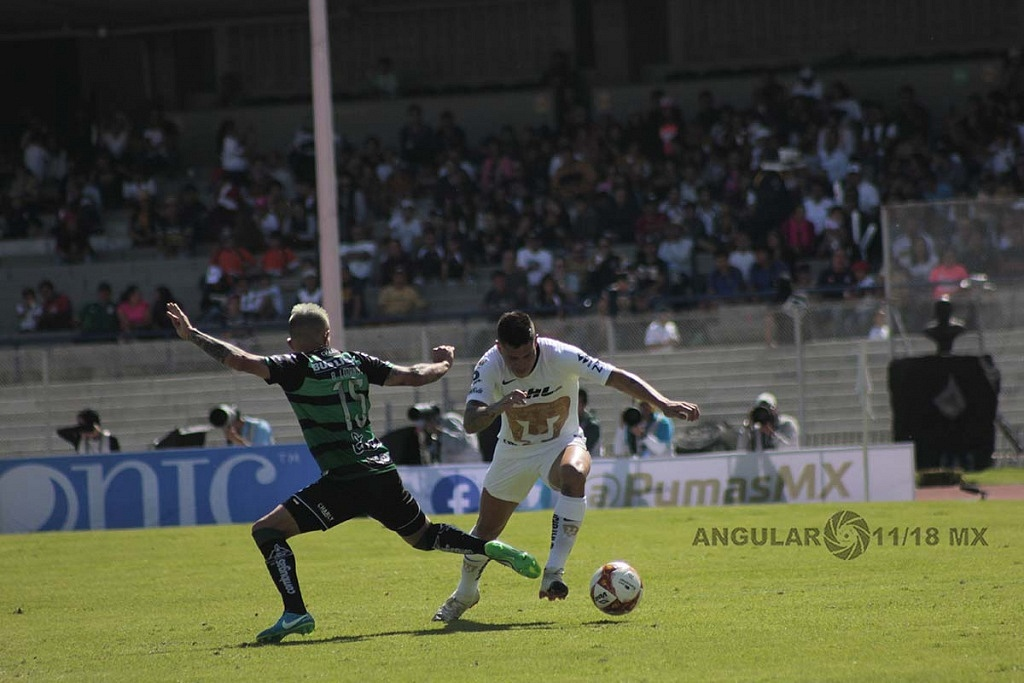 Pumas empata 1-1, con Santos Laguna en la jornada 17 del torneo apertura de la liga Mx 2018