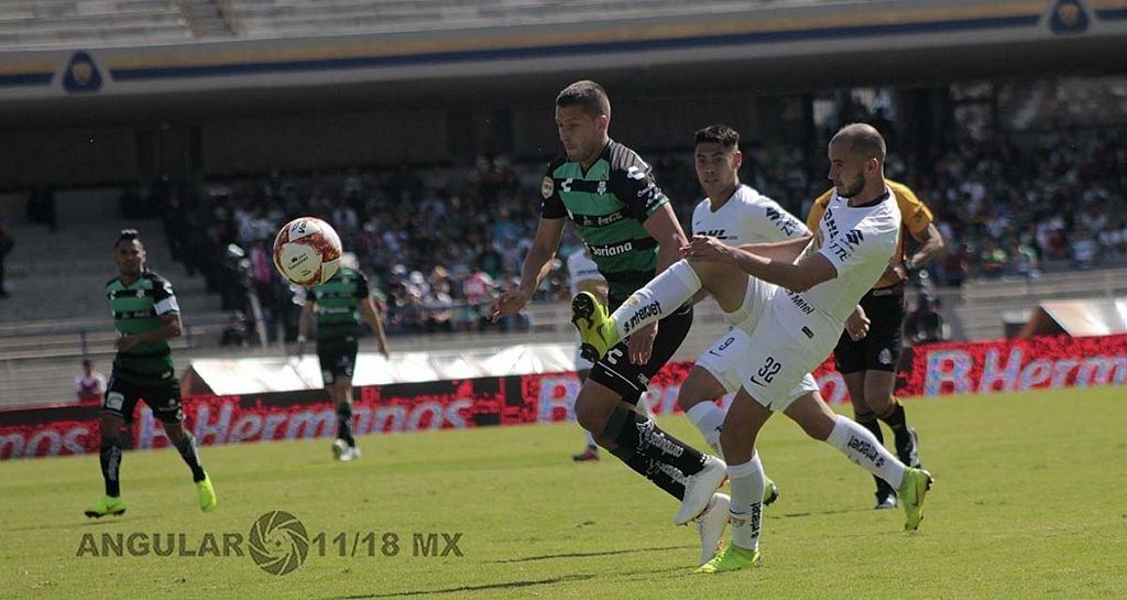 Pumas empata 1-1 con Santos Laguna en la jornada 17 en el torneo apertura de la liga Mx 2018