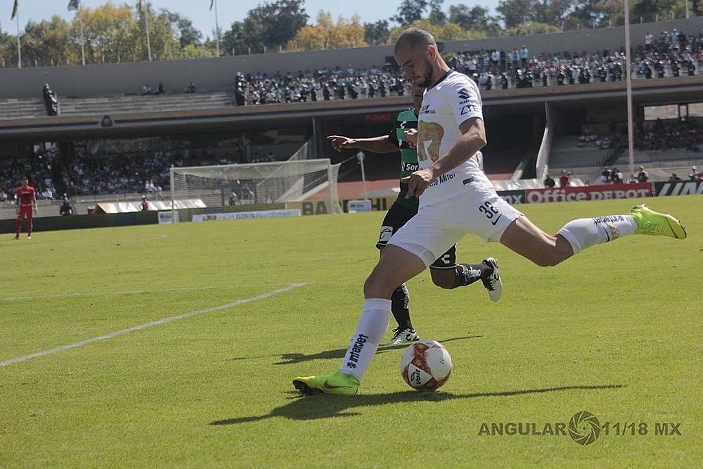Pumas empata 1-1 en la jornada 17 del torneo apertura de la liga MX, 2018