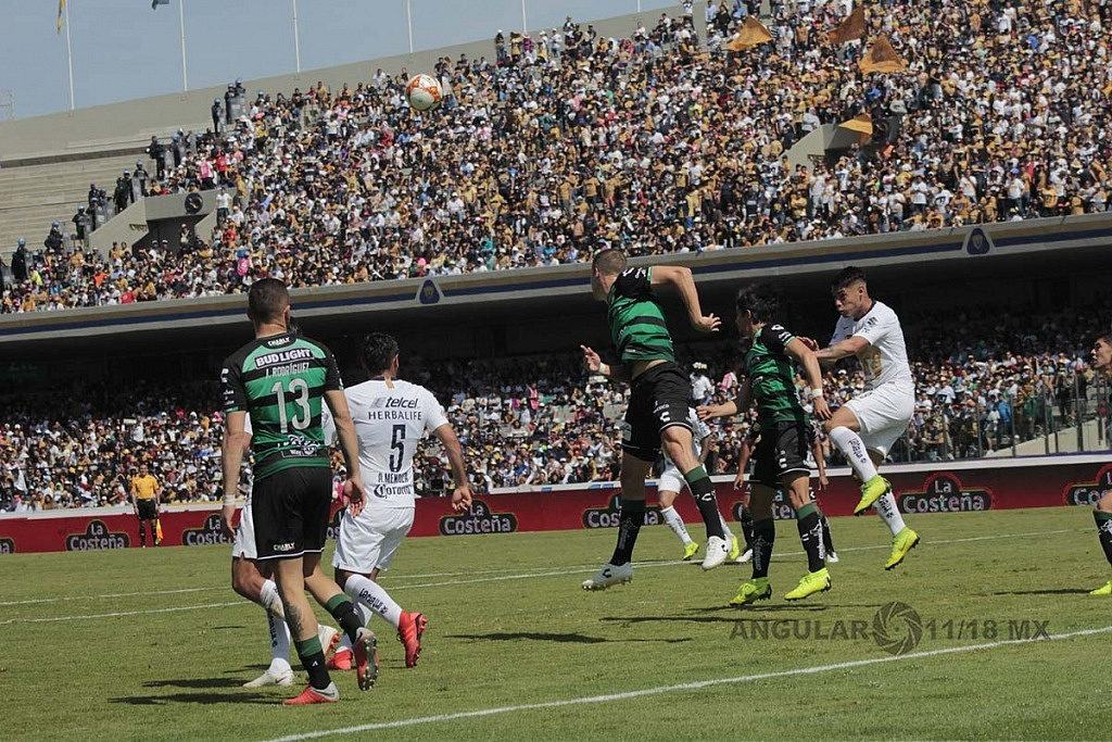 Pumas empata 1-1 en la jornada 17 del torneo apertura de la liga MX 2018,