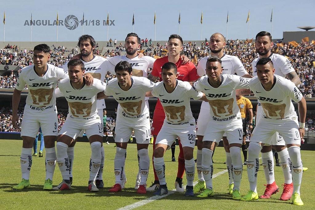 cuadro titular de Pumas en la ultima jornada del torneo de la Liga MX Apertura 2018
