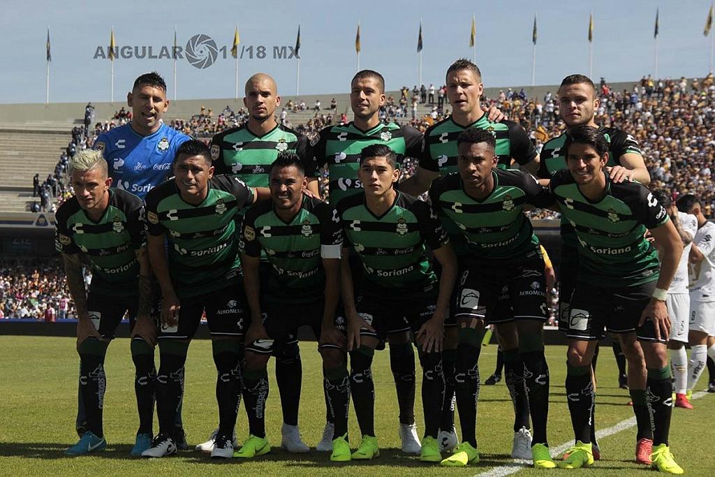 cuadro titular del Santos en la ultima jornada del torneo de la Liga MX Apertura 2018