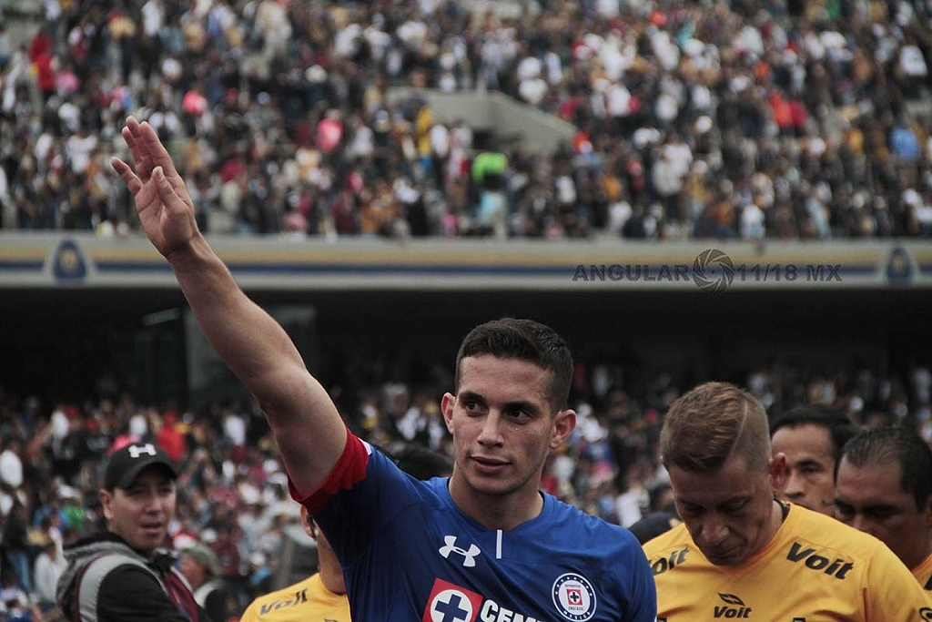 festejo del triunfo del Cruz Azul frente a Pumas en la Jornada 15 del torneo de liga MX, apertura 2018