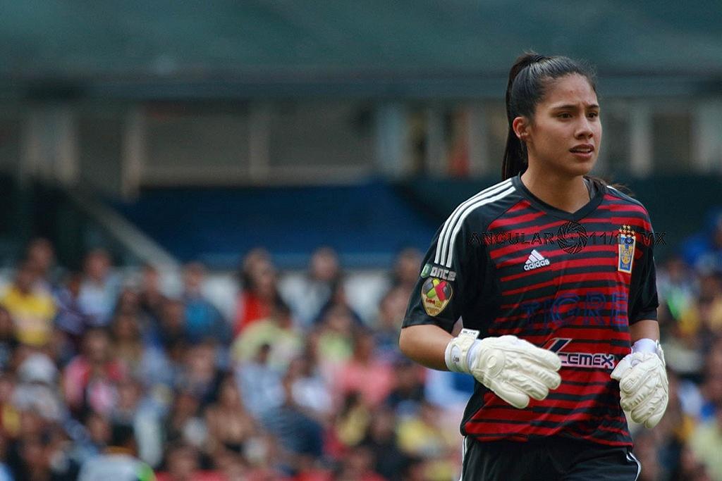 Alejandra Gutierrez, Portera de Tigres en la final del Apertura 2018 partido de ida