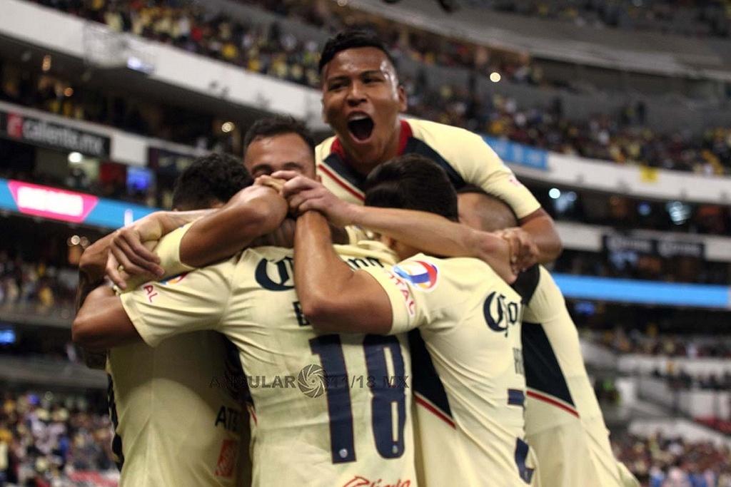 América vence al Toluca, y está dentro de la Semifinal-Apertura 2018 festejo del gol