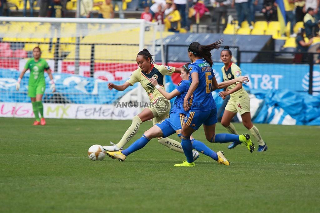 America y Tigres Femenil igual 2-2 en el partido de ida de la gran final apertura 2018,