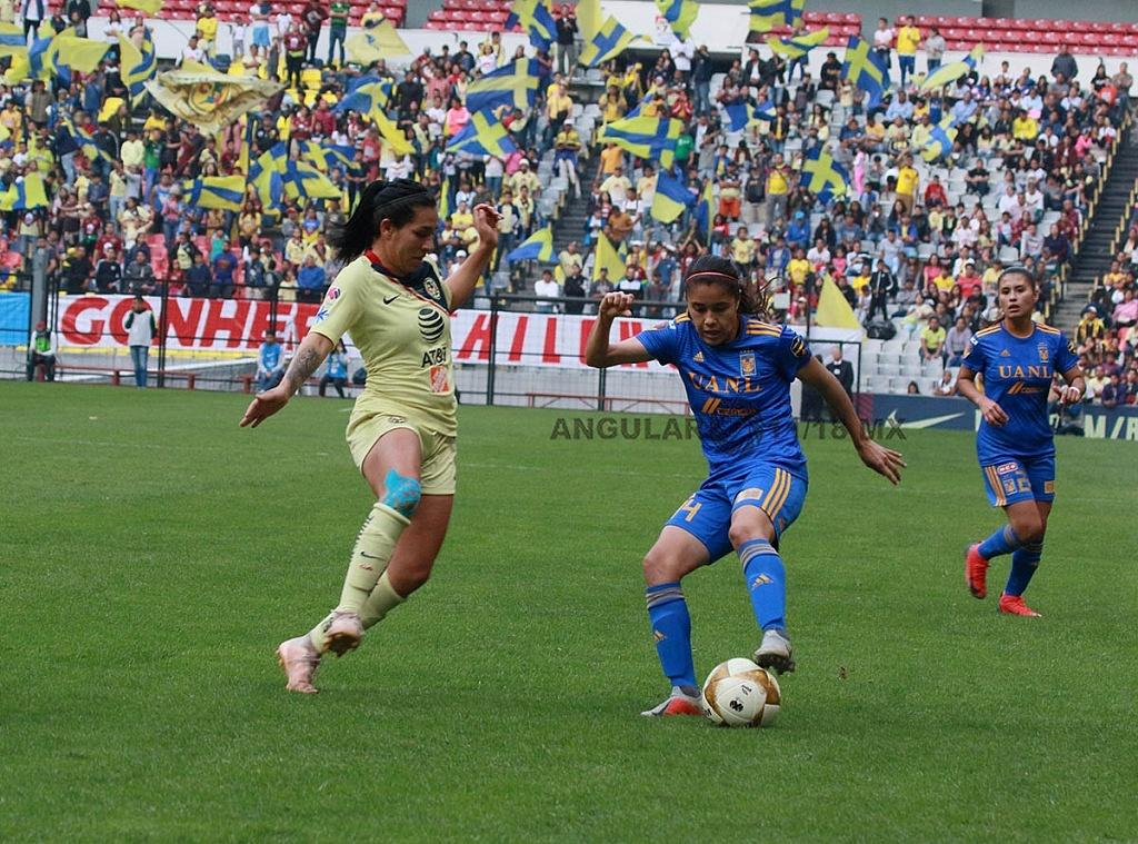 America y Tigres Femenil igual 2-2 en el partido de ida de la gran final apertura, 2018