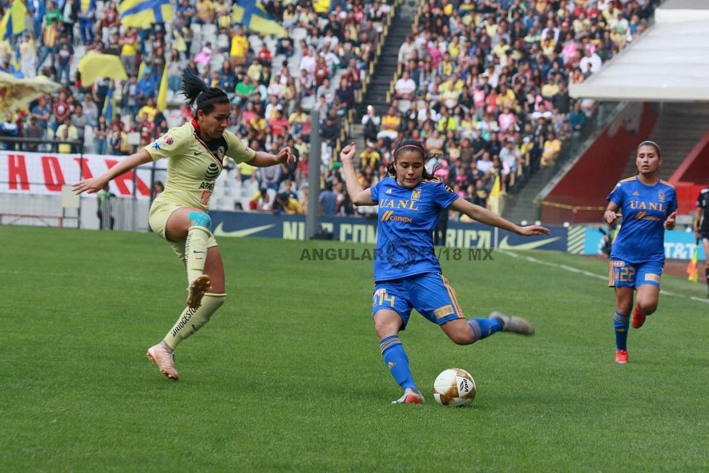 America y Tigres Femenil, igual 2-2, en el partido de ida de la gran final apertura 2018