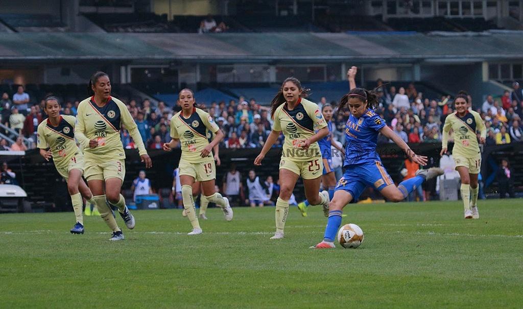 America y Tigres Femenil igual 2-2 en el partido de ida de la gran final del torneo de la liga mx apertura 2018,