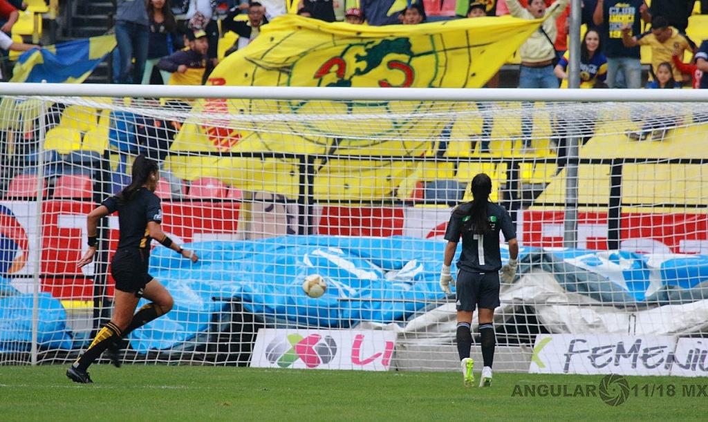 America y Tigres Femenil igual 2-2 en el partido de ida de la gran final del torneo de la liga mx apertura, 2018