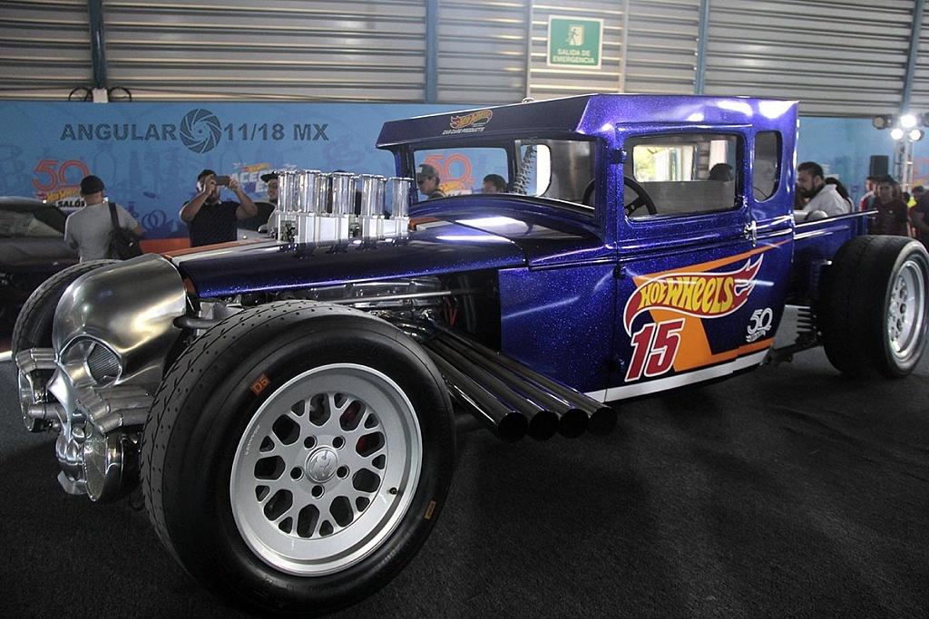 Auto Bone Shaker presentado en la celebración por los 50 años de Hot Wheels en la 11ª edición del Salón Hot Wheels CDMX