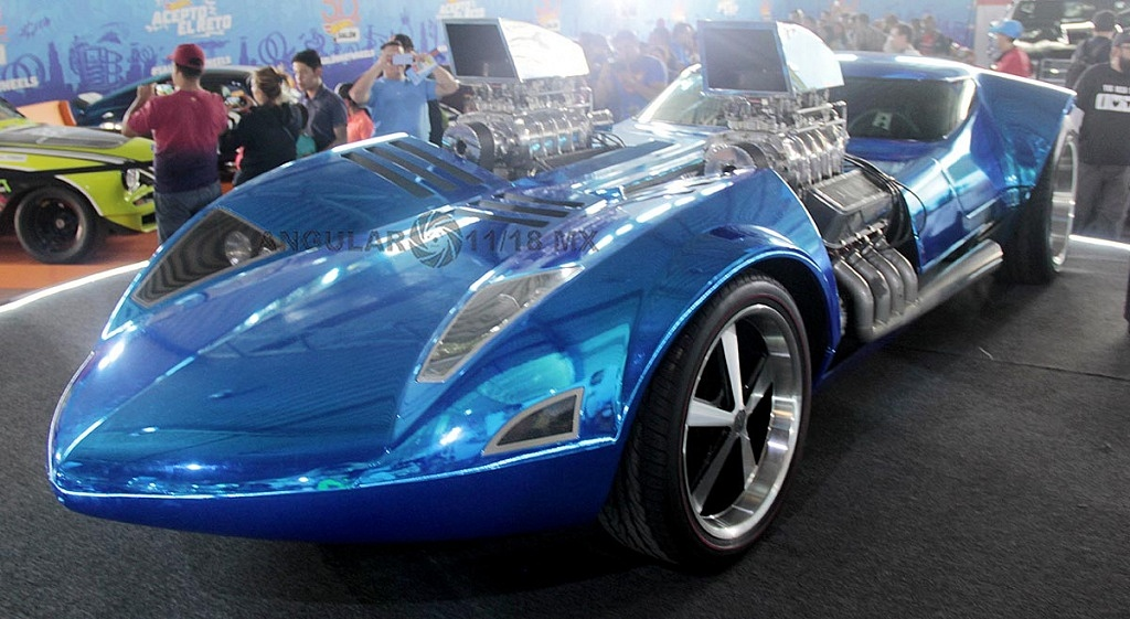 Auto Twin Mill presentado en la celebración por los 50 años de Hot Wheels en la 11ª edición del Salón Hot Wheels CDMX