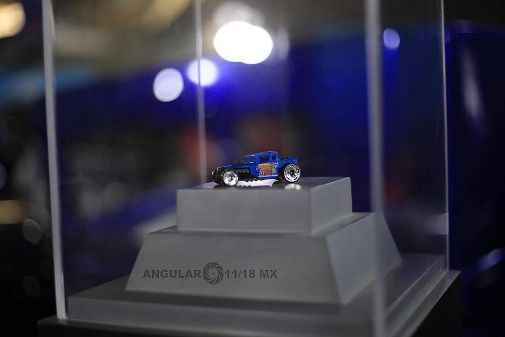 Auto a escala Bone Shaker presentado en la celebración por los 50 años de Hot Wheels en la 11ª edición del Salón Hot Wheels