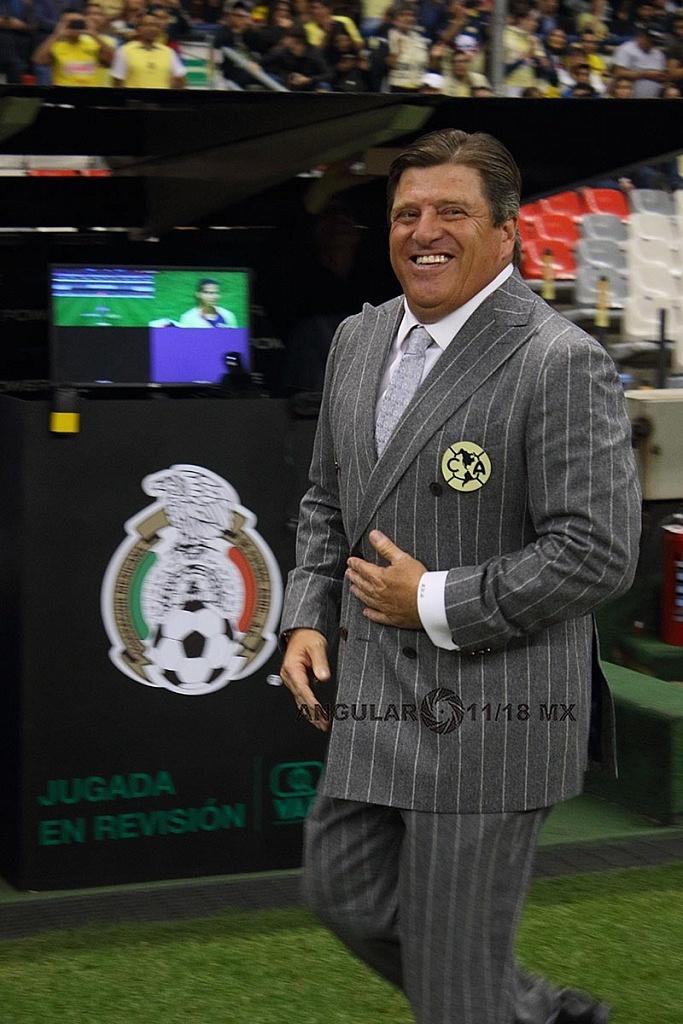 Director Técnico de América Miguel Herrera en la semifinal del apertura 2018