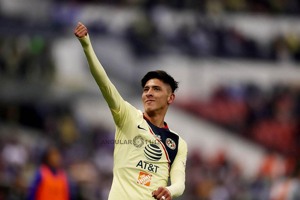 Edson Álvarez autor de los dos goles del América en la final del Torneo de la Liga MX Apertura 2018, en el Estadio Azteca
