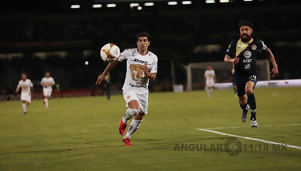 Empataron a uno los Pumas y el América en el juego de ida de las semifinales del torneo de la liga mx apertura 2018,