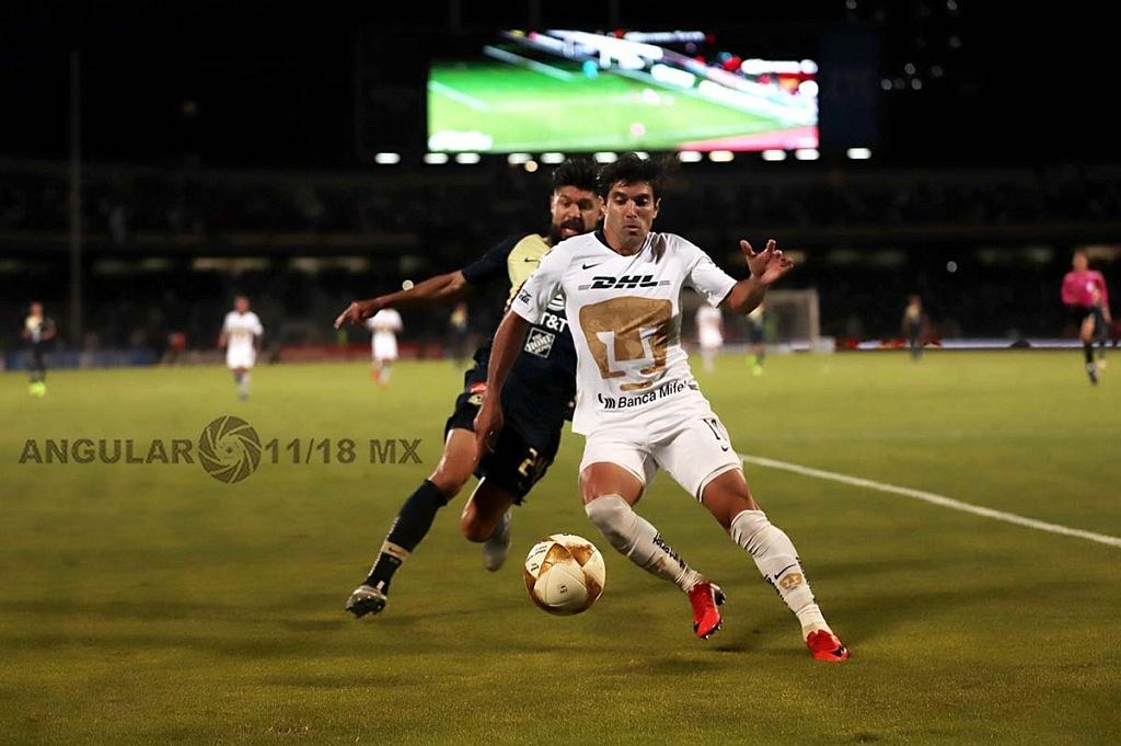 Empataron a uno los Pumas y el América en el juego de ida de las semifinales del torneo de la liga mx apertura, 2018