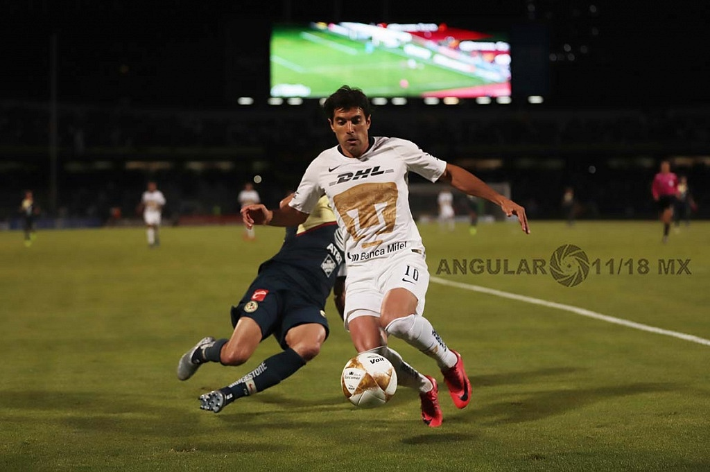 Empataron a uno los Pumas y el América en el juego de ida de las semifinales del torneo de la liga mx, apertura 2018,