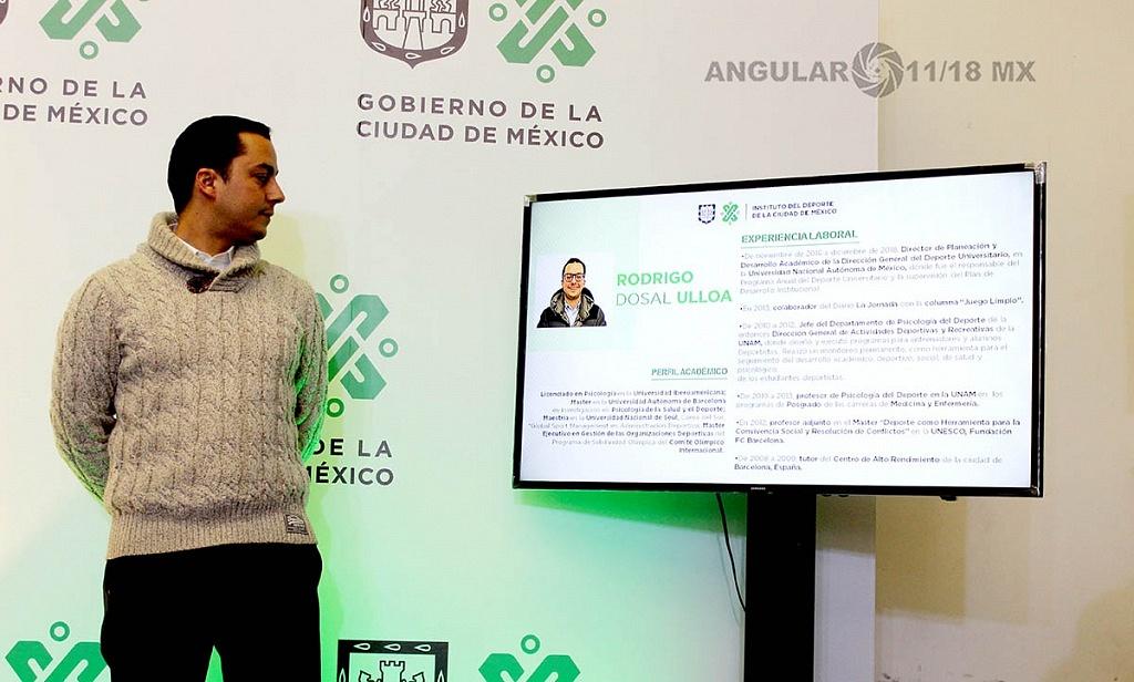 Presenta Jefa de Gobierno a Rodrigo Dosal Ulloa como director general del INDEPORTE de la Ciudad de México,