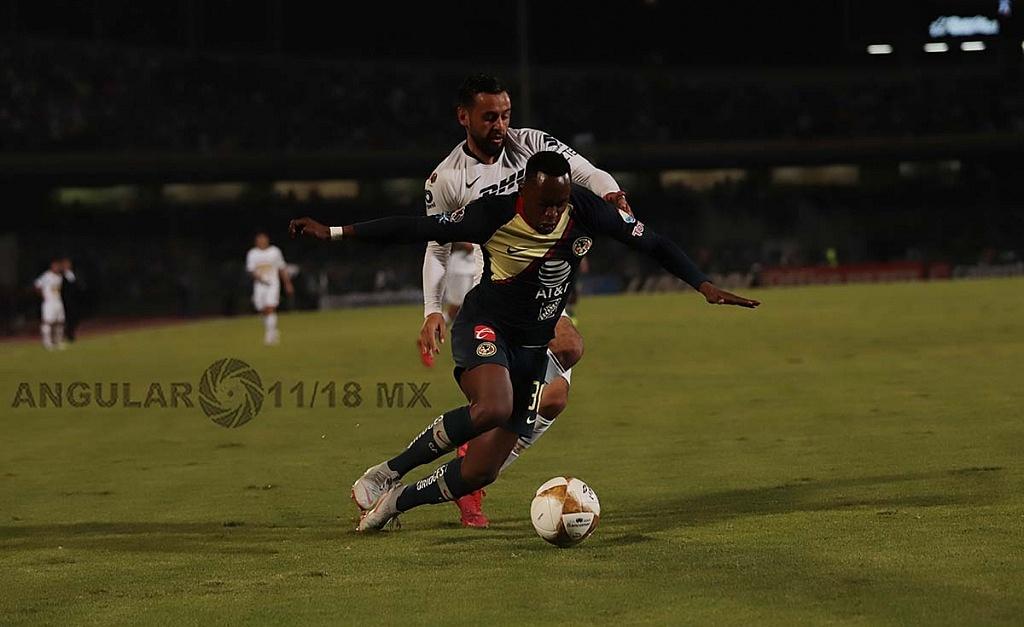Pumas y el América empatan 1-1 en el juego de ida de las semifinales del torneo de la liga mx apertura 2018 jugada dividida ,