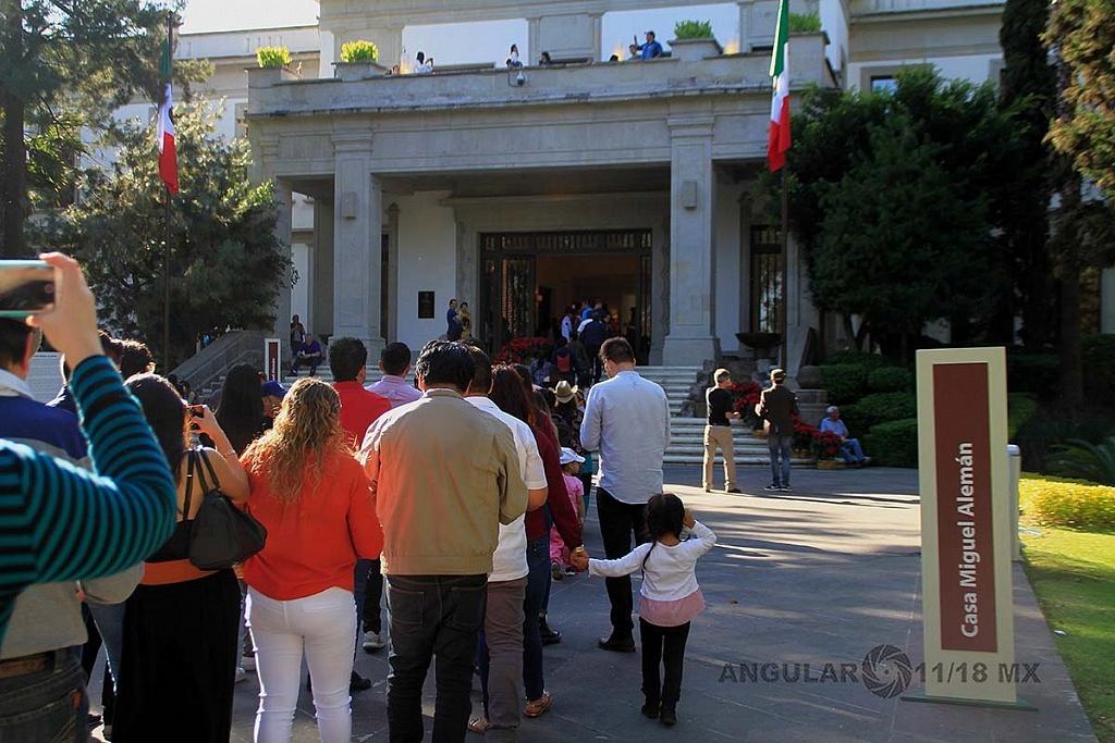 abrieron a todo el público la Residencia Oficial de Los Pinos este sabado 1 de diciembre de 2018,,