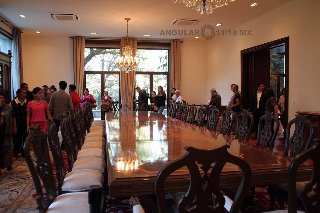 abrieron a todo el público la Residencia Oficial de Los Pinos este sabado 1 de diciembre de 2018 comedor de la residencia