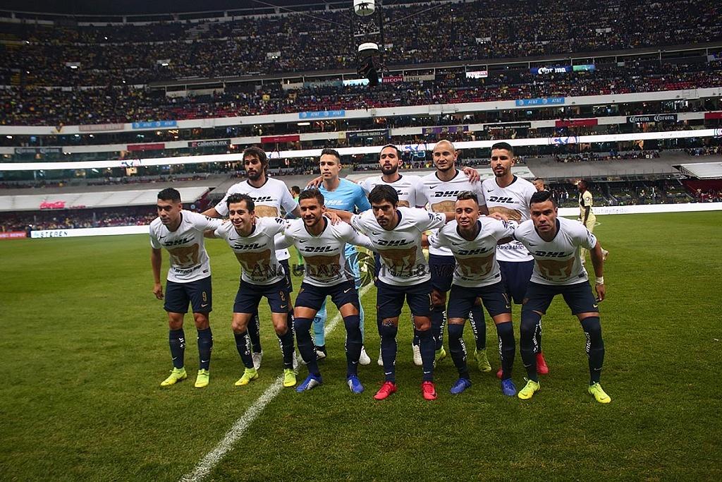 equipo titular de Pumas en la semifinal de la Liga MX Apertura 2018 en el Estadio Azteca