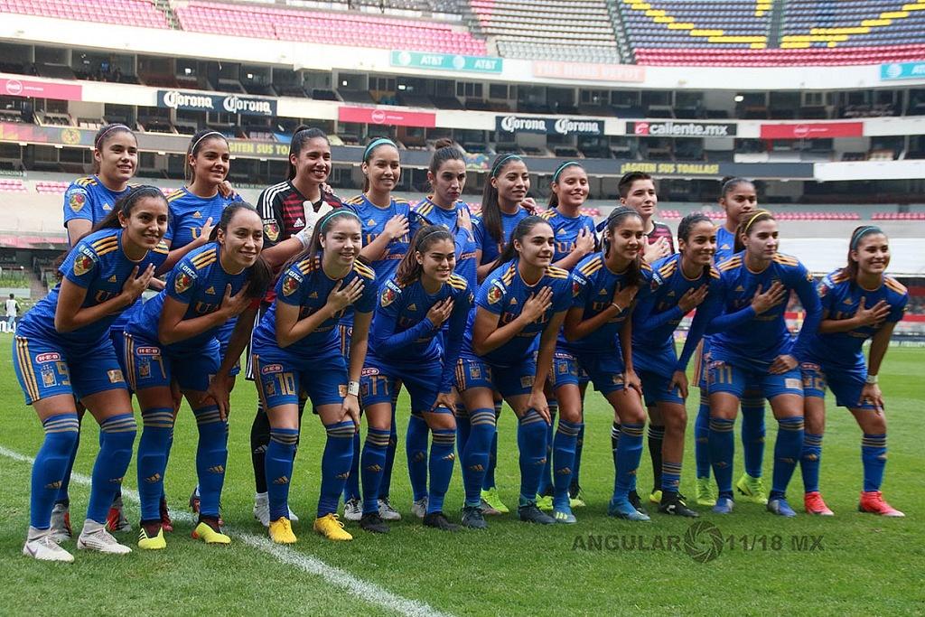 equipo titular de Tigres femenil en la final del torneo de liga mx apertura 2018