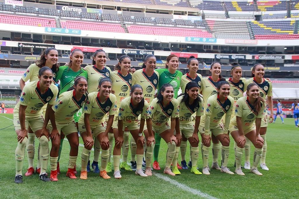 equipo titular del América femenil en la final del torneo de liga mx apertura 2018