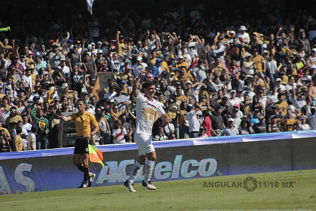 festejo del gol de Matías Alustiza frente a tigres en los cuartos de final del apertura 2018