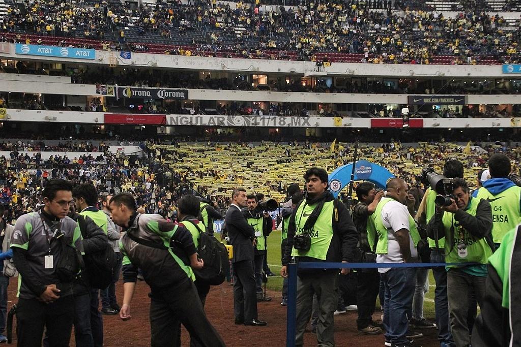 zona de medios en la final del futbol mexicano apertura 2018