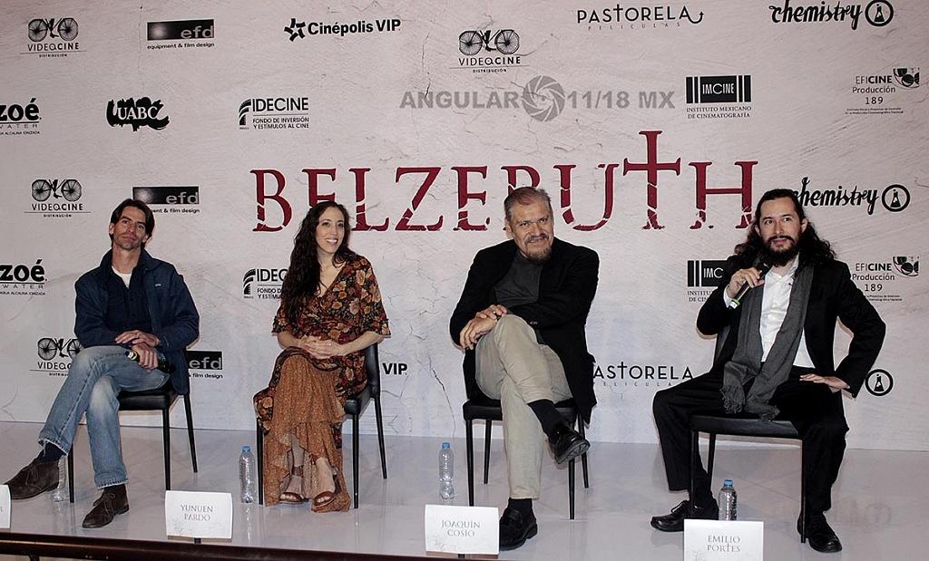 Elenco de la película de Terror, Belzebuth en conferencia de prensa,