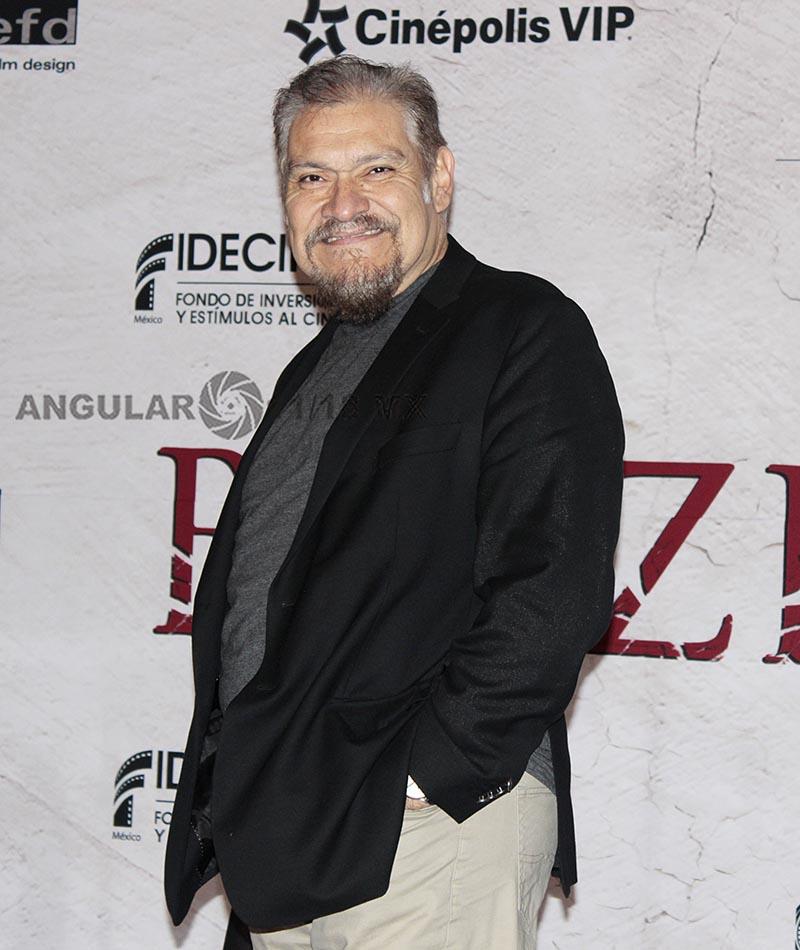Joaquín Cosío actor mexicano en la presentación de la pelicula de terror Belzebuth