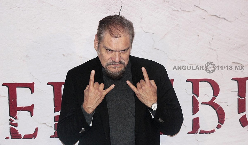 Joaquín Cosío actor mexicano en la presentación de su nueva pelicula Belzebuth