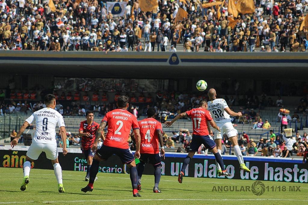 Pumas empata 0-0 ante el Veracruz en la jornada 1 del torneo Clausura 2019 de la Liga MX, estadio Olímpico Universitario
