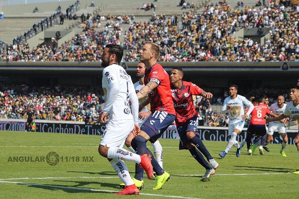 Pumas y Veracruz empatan 0-0 en la jornada 1 del torneo Clausura 2019 de la Liga MX, estadio Olímpico Universitario