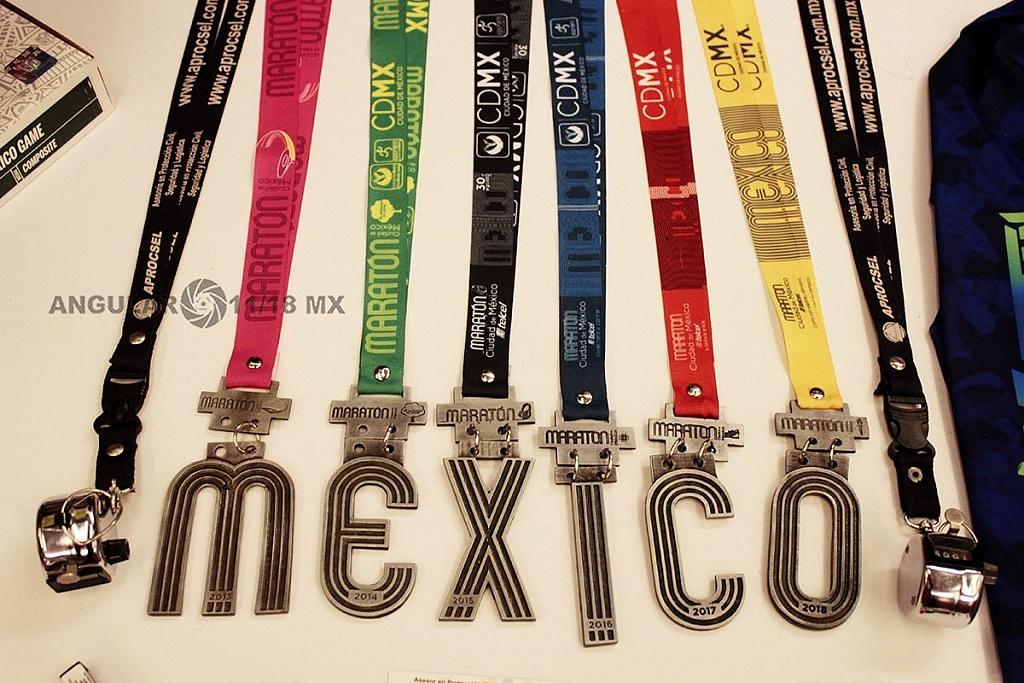 Sexto Congreso Internacional de la Industria del Running, medallas del maratón de la Ciudad de México