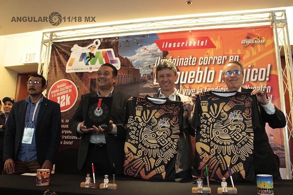 presentación del maratón de yucatan 21k Izamal
