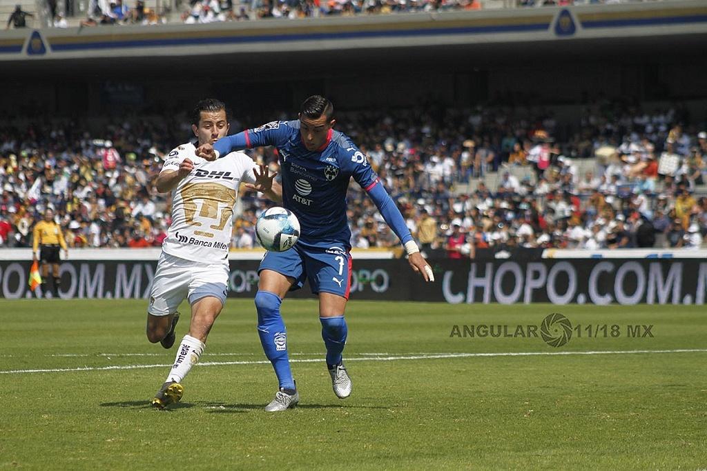 Delantero de Monterrey Funes Mori en la jornada 5 del Clausura 2019