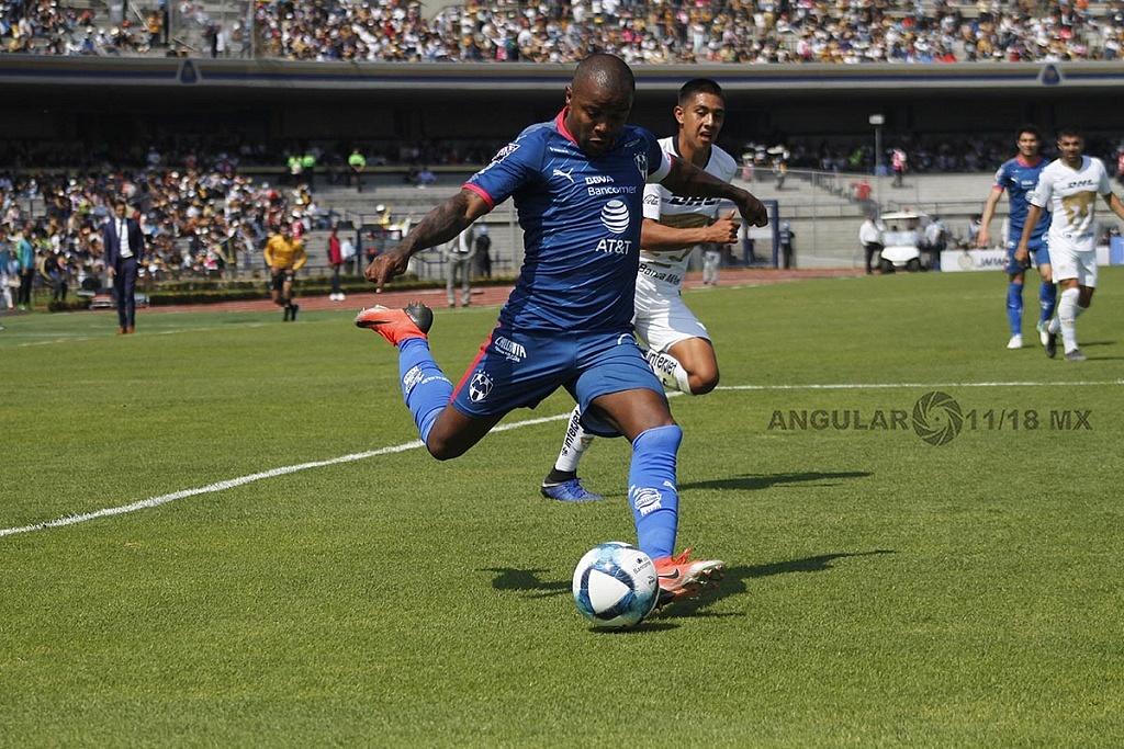Dorlan Pavón autor del único gol del Monterrey frente a Pumas, en la Jornada 5 del torneo de la liga mx clausura 2019