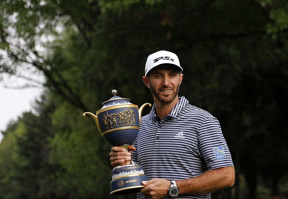 Dustin Johnson Campeón del World Golf Championships México 2019 con el trofeo