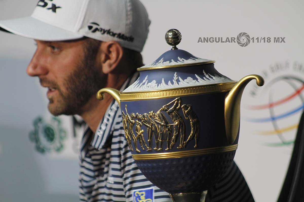 Dustin Johnson, Campeón del World Golf Championships México, 2019 en conferencia de prensa
