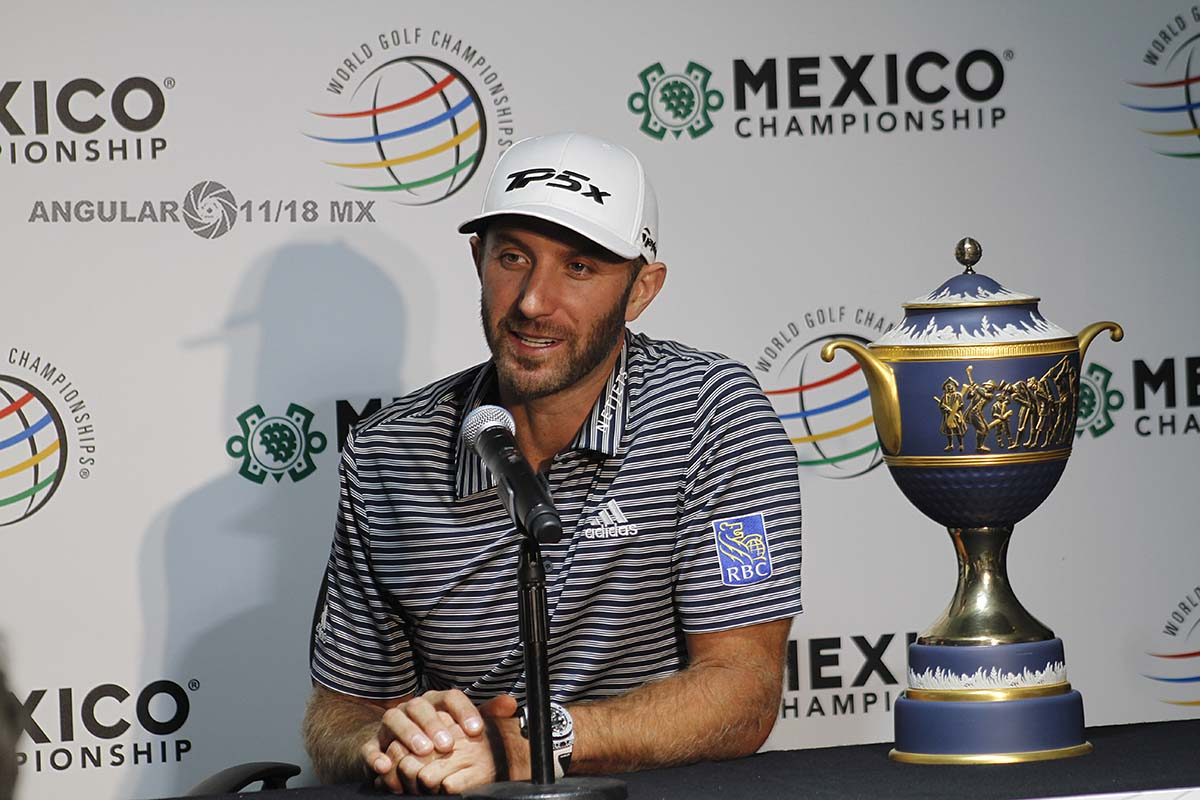 Dustin Johnson Campeón del World Golf Championships México, 2019 en conferencia de prensa