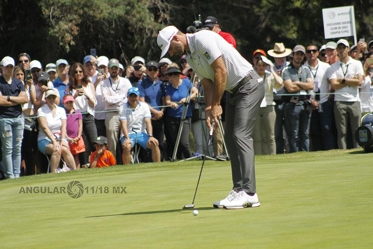 Dustin Johnson de Estados Unidos, lidera el World Golf Championships México 2019, después de la tercera ronda