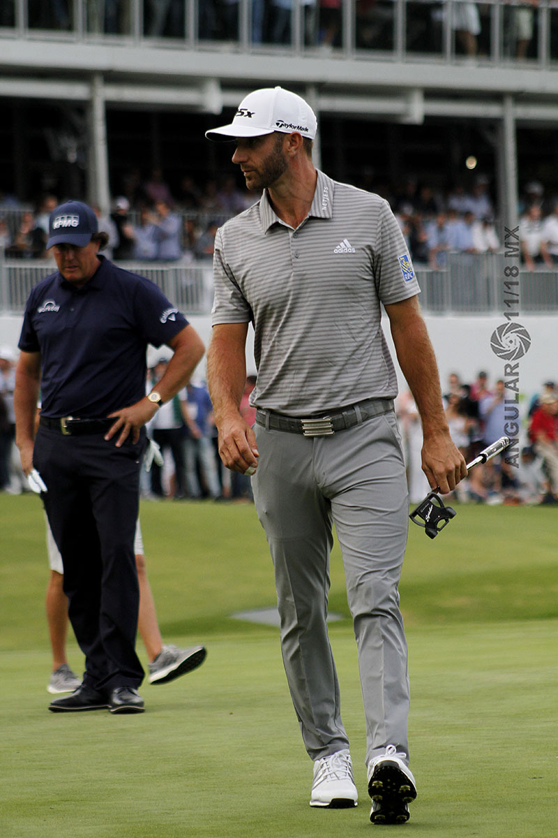 Dustin Johnson, ganador de la segunda ronda del World Golf Championships, México 2019